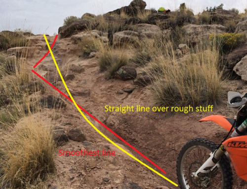 Line Choice is Critical to Off Road Riding!
